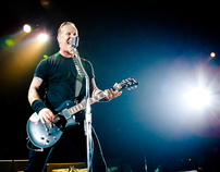 Metallica live in France. World Magnetic Tour