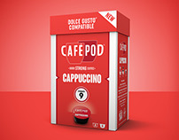 CaféPod Coffee Packaging Rebrand