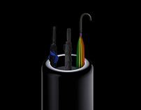 New Mac Pro. The future of pro umbrella stands