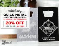 Quick Metal Bottle Opener Cards