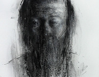 [109] untitled charcoal on canvas 53.2 x 41 cm 2013