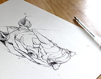 Rhino.In.Peace / R.I.P / Drawing
