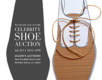 Celebrity Shoe Auction Invitation