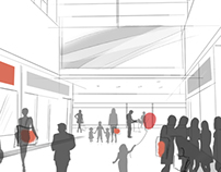 Sketches of shopping centers