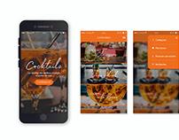 Design d'application de recettes de cocktails.