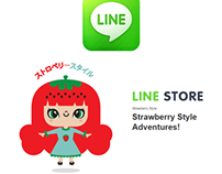 Strawberry Style Adventures Pack Stickers for LINE