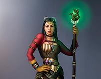 Esfinge Steampunk - diseño de personaje