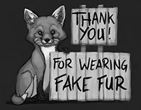 Fake Fur Stickers