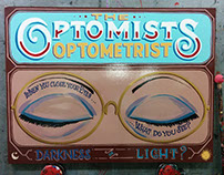Sign Painting: The Optomists Optometrist