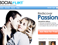 Tagline and text for splash page of new dating website