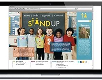 STAND UP Anti-bullying branding