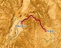 Animation Map from Kigali to Lake Kivu