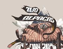 Two Alpacas Illustration