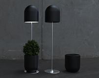 Lampot | integrated plant pot and floor lamp