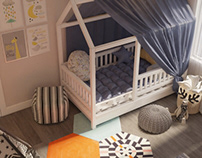 Kids room with dressing