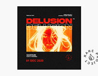 Delusion Cover Art Template - Rare Project