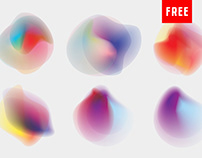 12 Free Vibrant and Creative Gradient Shapes