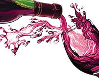 Wine Editorial Illustration
