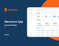 Swiggy Merchent App - Concept design