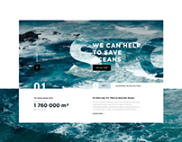 Web Design and Animation: Save the Oceans Charity