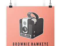 Brownie Hawkeye Poster and Postcard
