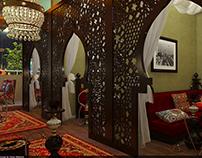 Khaleeji shisha and tea lounge.Mezzanina floor.