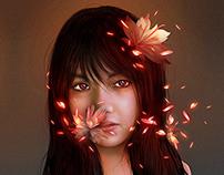 FLOWERS AND PORTRAITS / Digital Illustrations