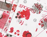 F17 Risograph Experiments : Spooky Open Studio