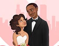 Gift art for a friends' wedding
