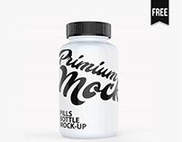 Free Supplement Bottle Mockup
