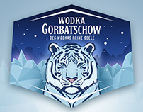 Wodka Gorbatschow label design