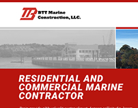 BTT Marine construction web design