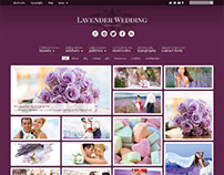 Lavender, Wordpress Retina Ready Wedding Theme