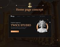 "Home page concept ""Twice Studio"""