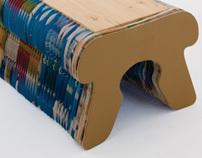 Paper Waste Bench