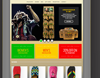 1 love foot wear web design