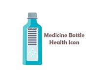 blue medicine Bottle Health Icon