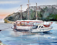 Ships in Kemer