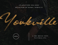 YORKVILLE SVG - FREE SIGNATURE BRUSH FONT