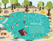 Editorial Magazine Spread Illustration