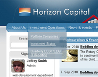 Intranet site for Horizon Capital
