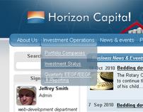 Intranet site for Horizon Capital