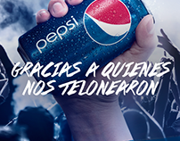 """Pepsi - Lollapalooza, """"Teloneros""""."""