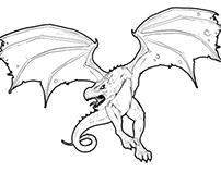 Dragon illustration and experimental altoids ad