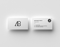 Business Card Top View Mockup
