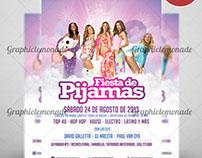 Flyer Fiesta de Pijamas