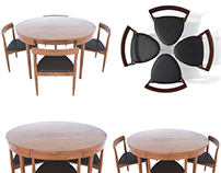 Hand Compact Dining Set 3D Free