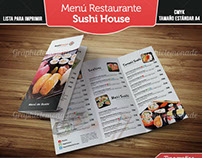 Menu de restaurante Sushi House