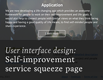 Self-improvement service squeeze page