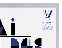 "Brand/image proposal for bar ""Villa"" by Tê3 collective"